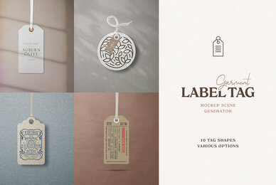 Garment Label Tag Mockups
