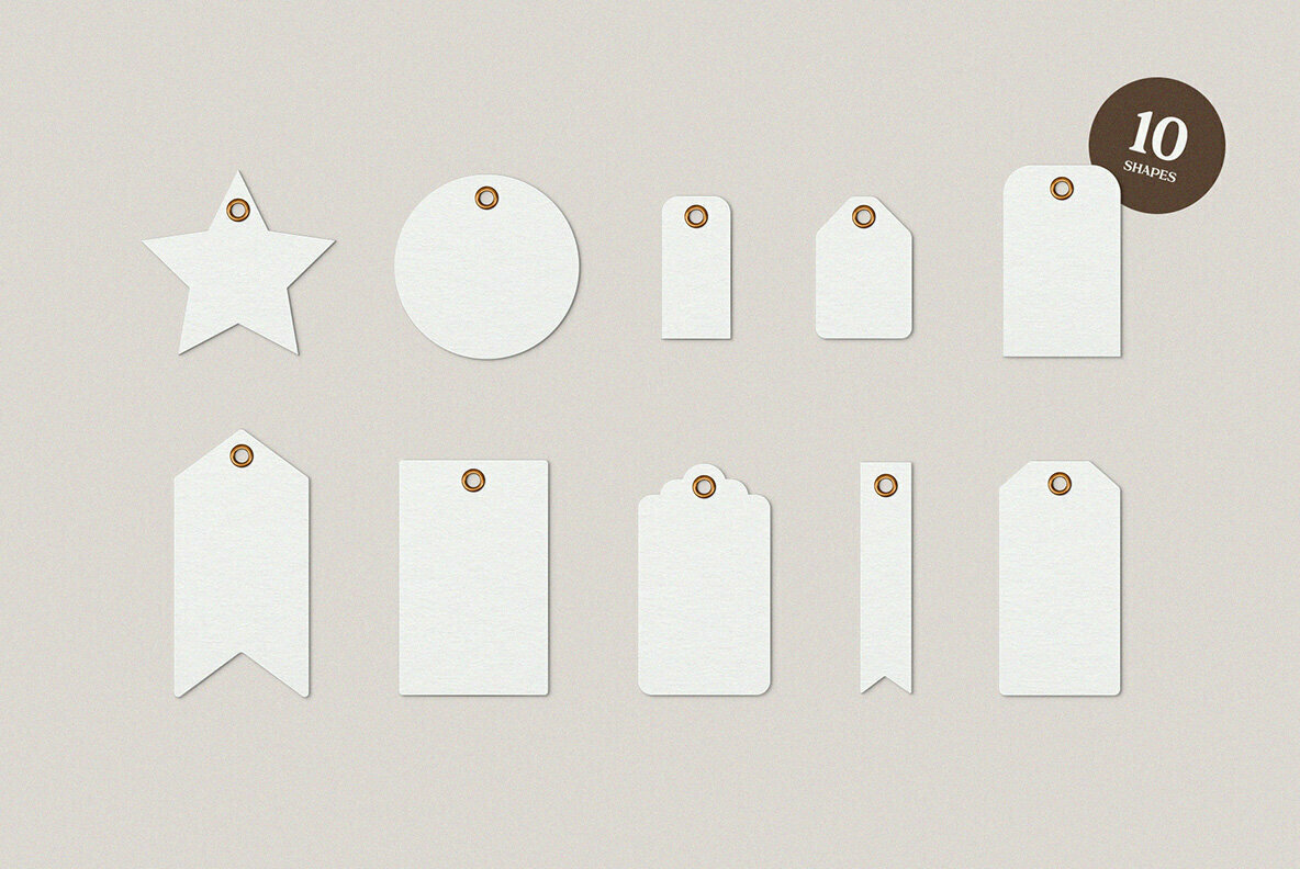 Garment Label Tag Mockups