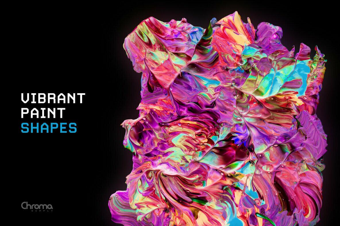 Vibrant Paint Shapes