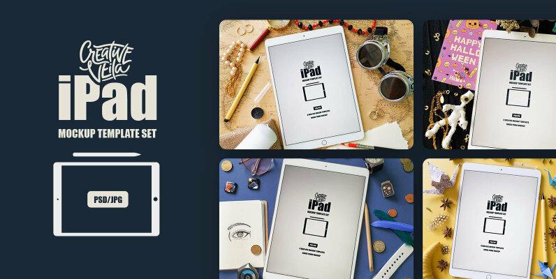 iPad PSD Mockup Template Set