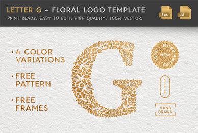 Letter G   Floral Logo Template