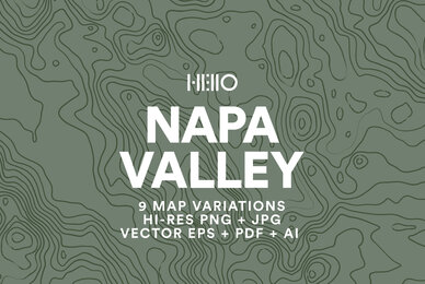 Napa Valley Topographic Maps
