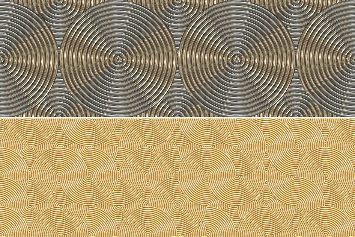 10 Art Deco Vintage Rings Pattern Backgrounds
