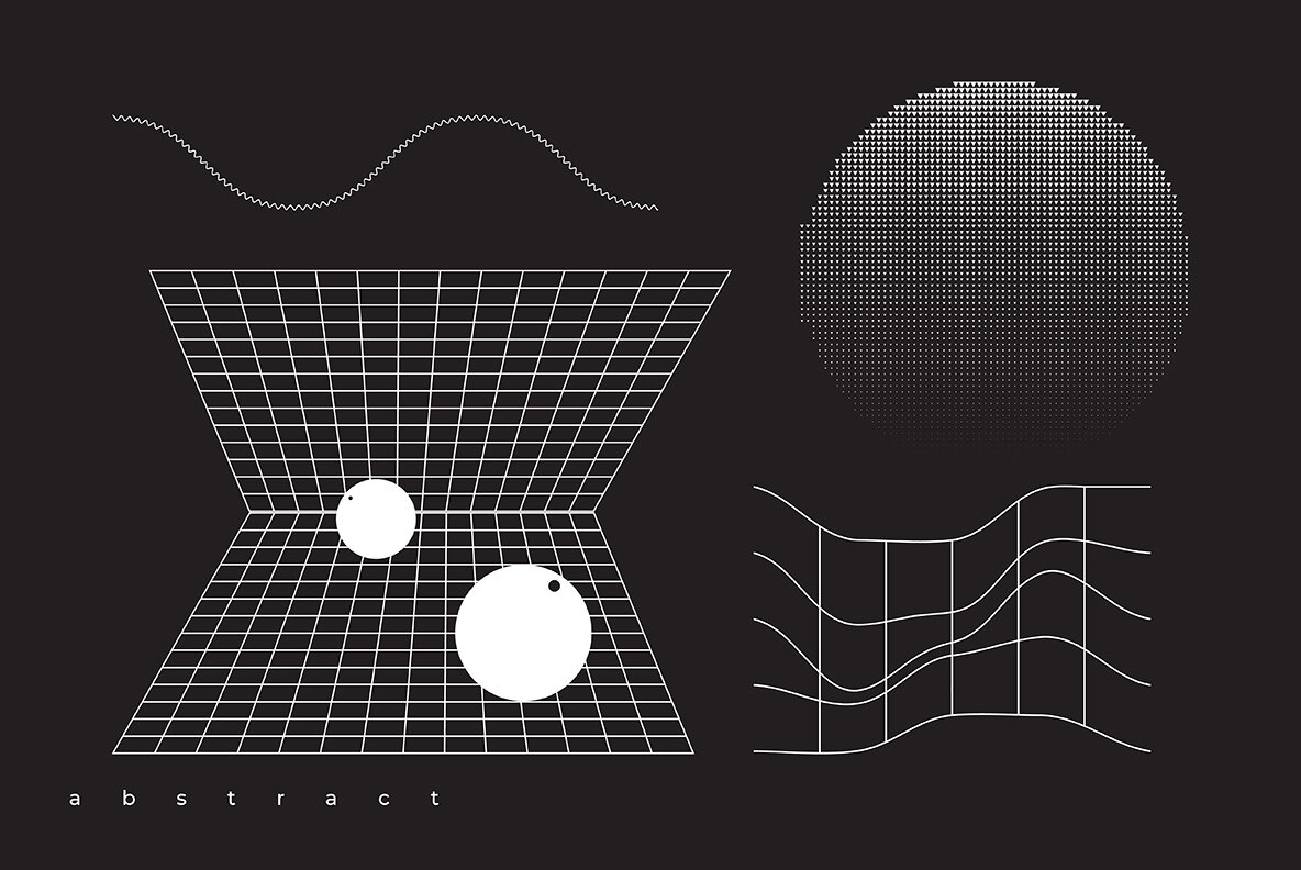 Abstract 100 Universal Vector Objects