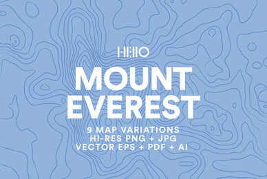 Mount Everest Topographic Maps