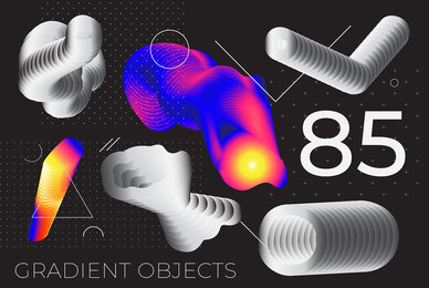 85 Gradient Object Poster Backgrounds