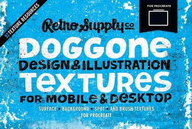 Doggone Design  Illustration Textures for Procreate