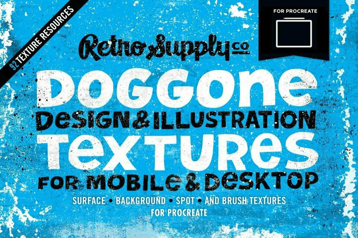 Doggone Design   Illustration Textures for Procreate