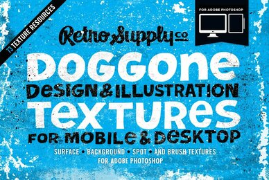 Doggone Design  Illustration Textures for Adobe Photoshop