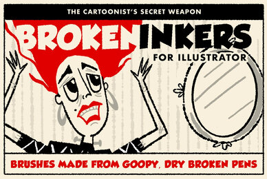 Broken Inkers Brush Set for Adobe Illustrator