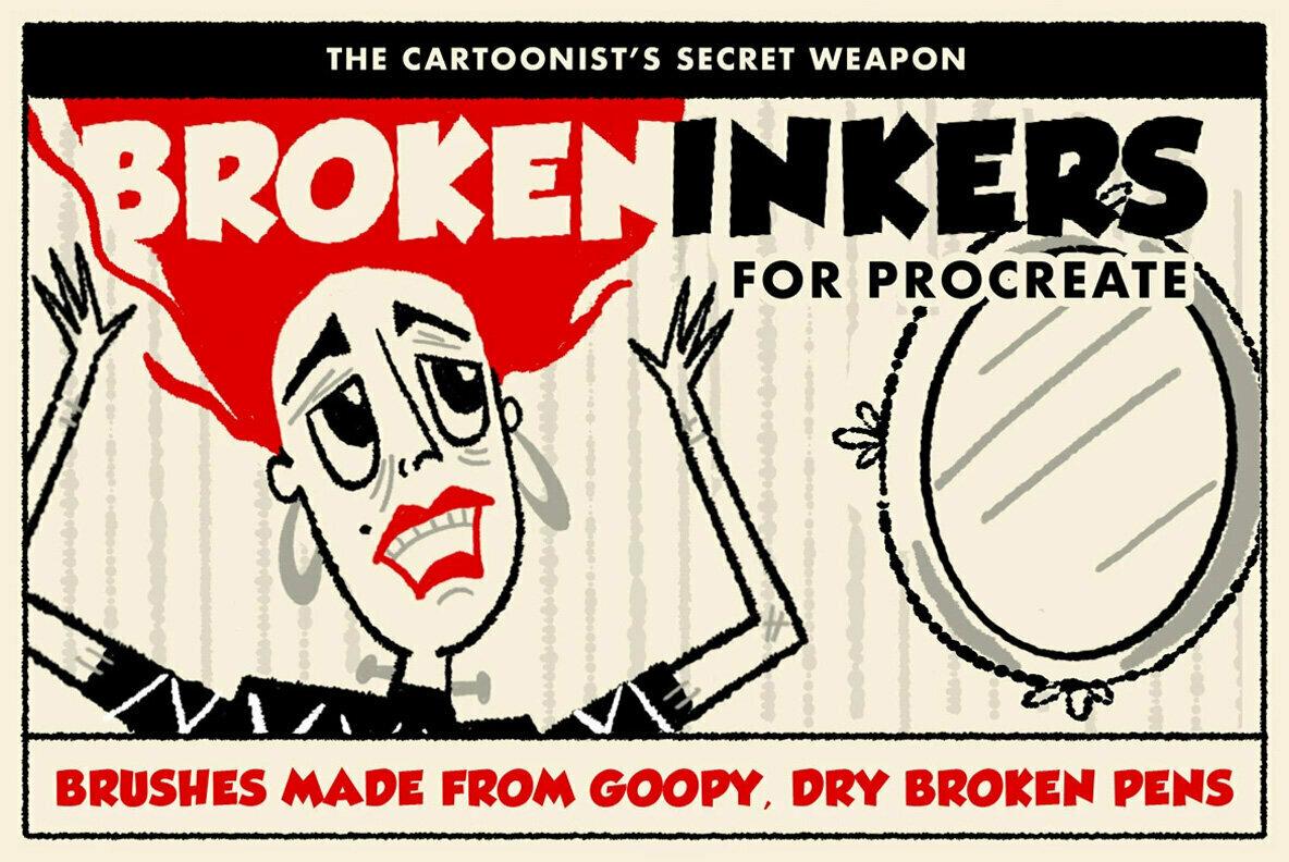 Broken Inkers Brush Set for Procreate