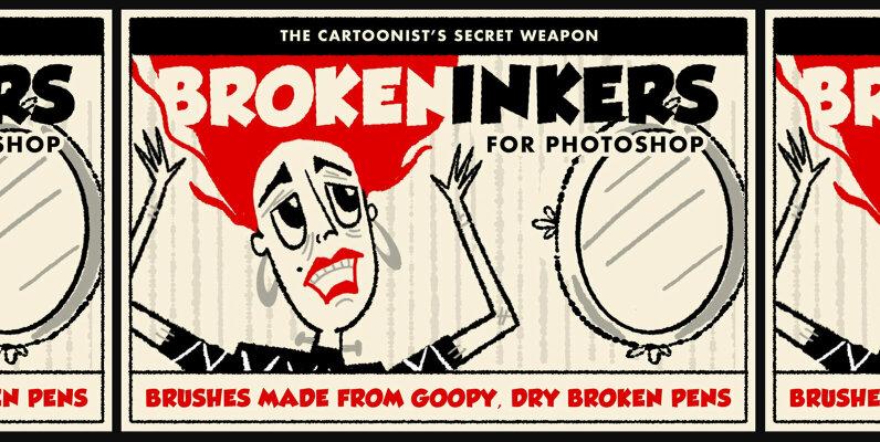 Broken Inkers Brush Set for Adobe Photoshop