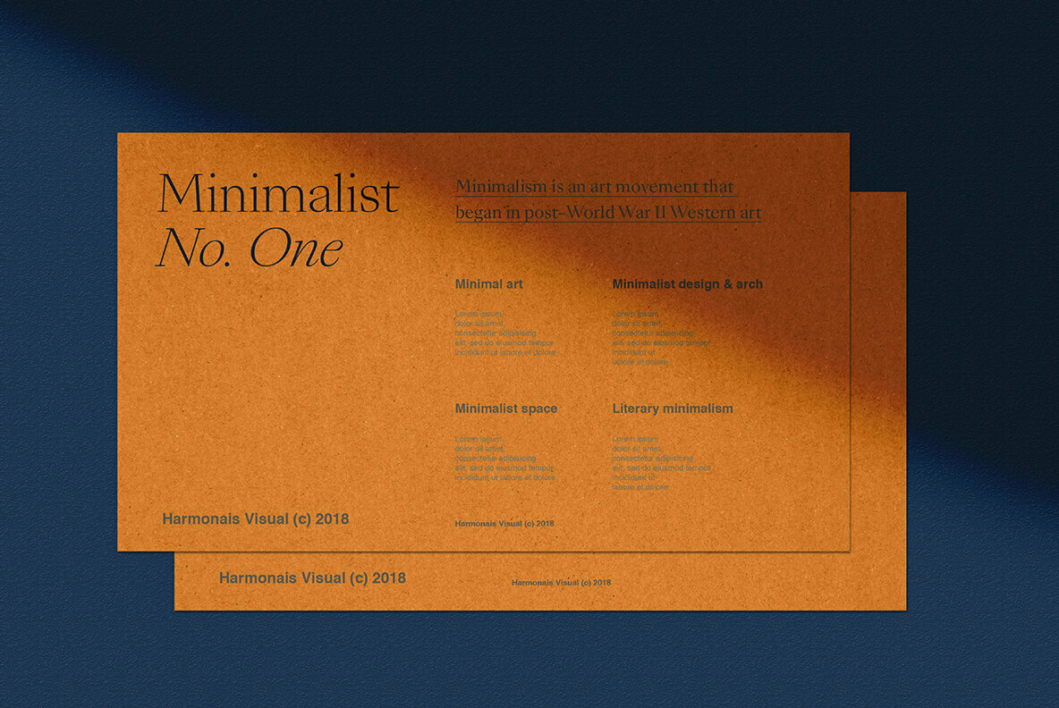 Minimalist No 1   All Scenes