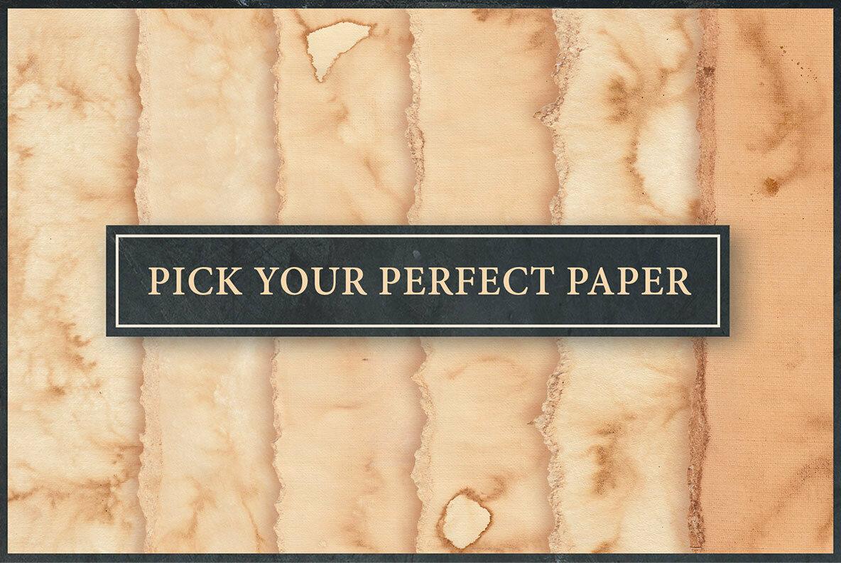 Vintage Paper PSD Mockup Set