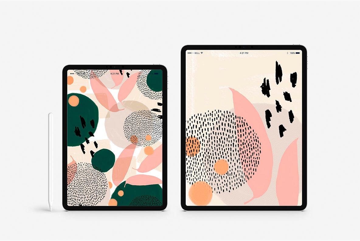 Komorebi Organic Shapes Pattern Set
