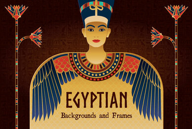 Egyptian Backgrounds and Frames