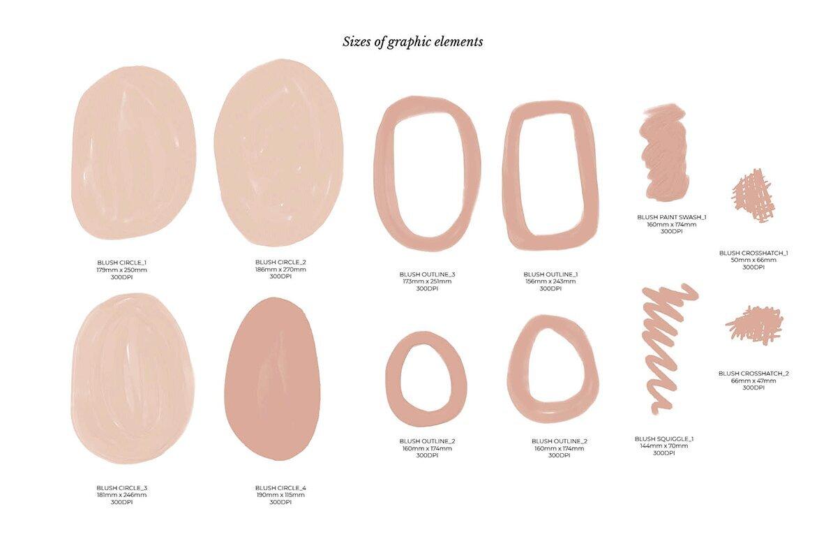 Blush   Black Organic Shapes
