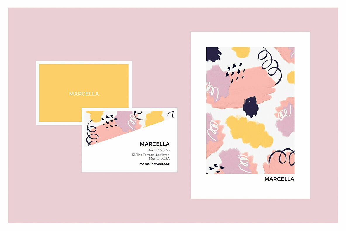 Marcella Paint Splodges and Squiggles