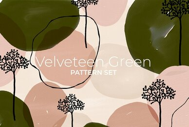 Velveteen Green Pattern Set