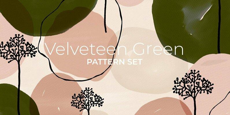 Velveteen Green Pattern Set