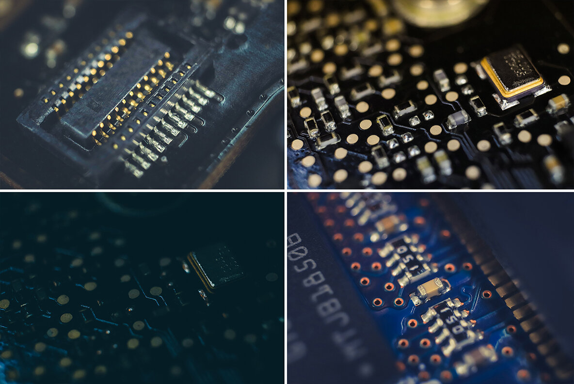 50 Microchip Macro Backgrounds