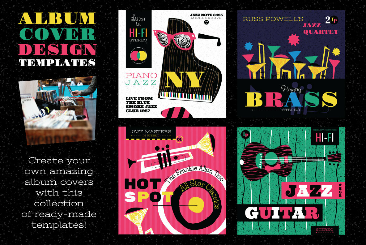 Musical Vector Icons and Design Templates