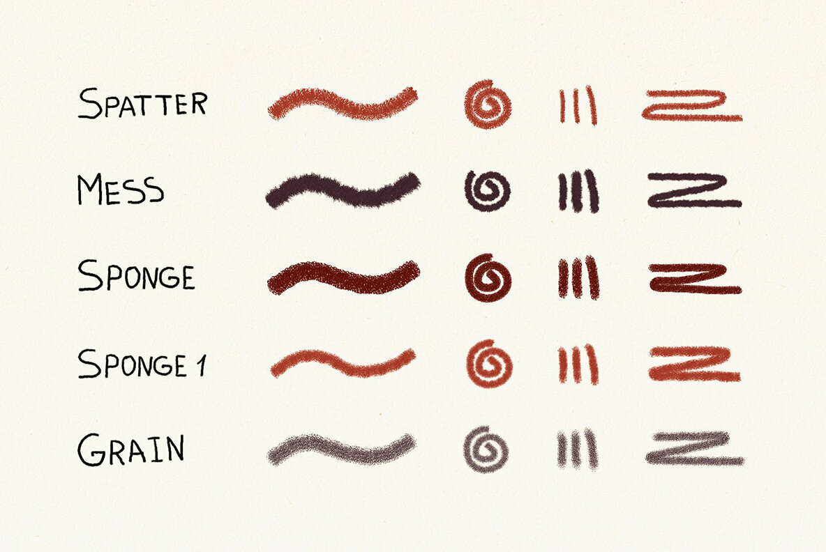 Hand Drawn Brushes for Affinity