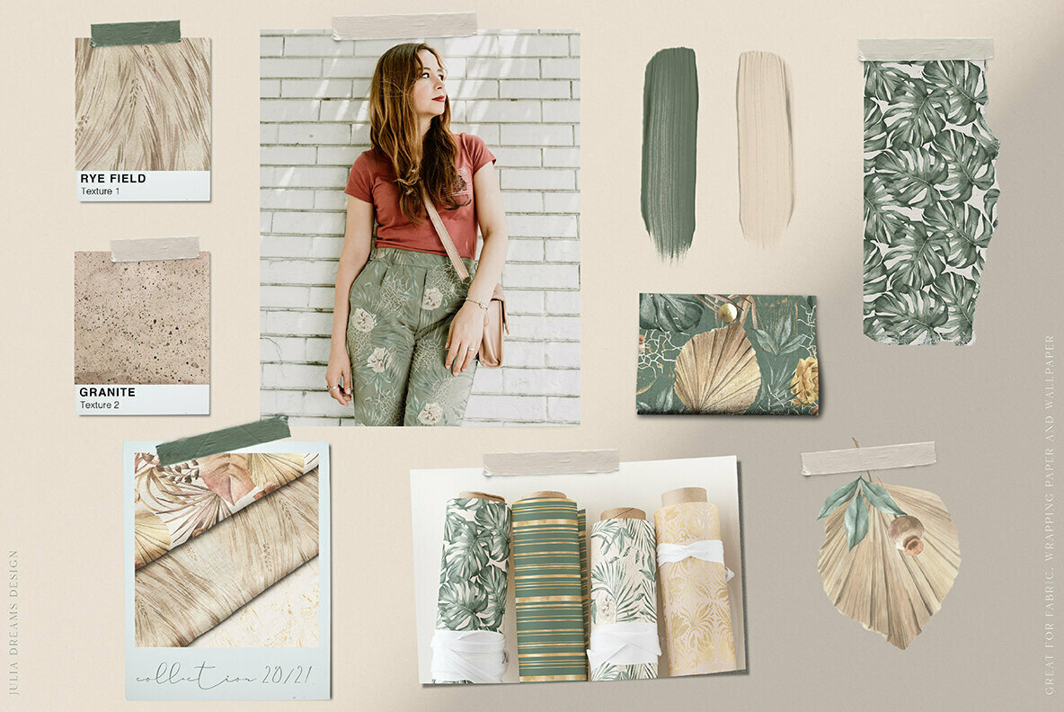Modern Oasis Watercolor Collection