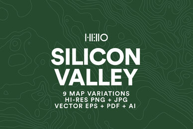 Silicon Valley Topographic Maps