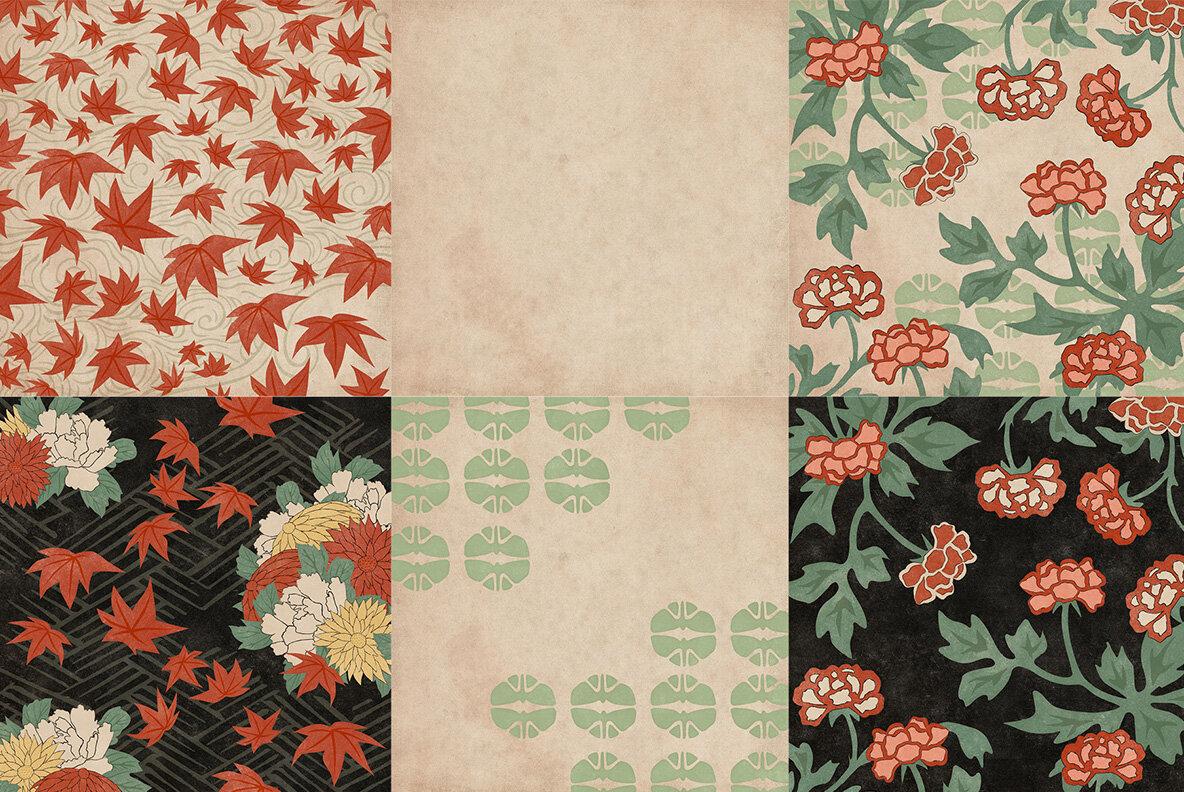 Vintage Japanese Flowers