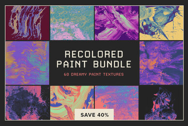 Recolored Paint Bundle     60 Dreamy Paint Textures