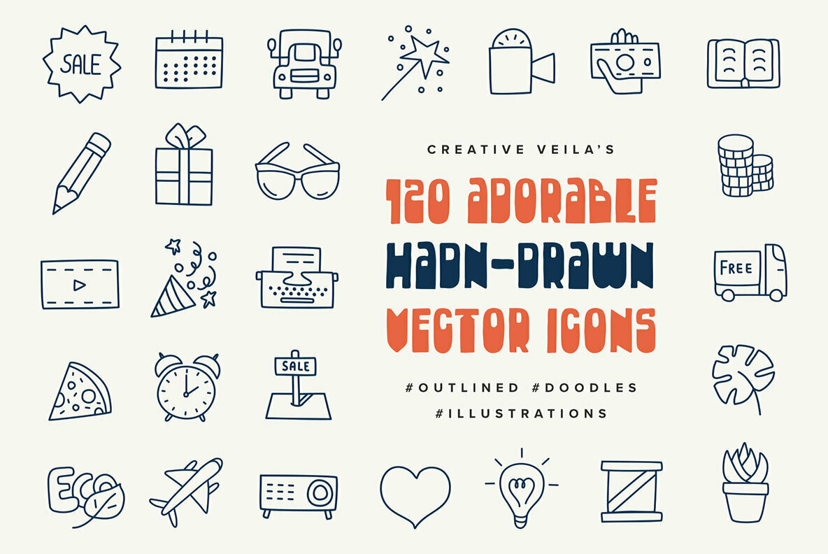Adorable Hand Drawn Vector Icons