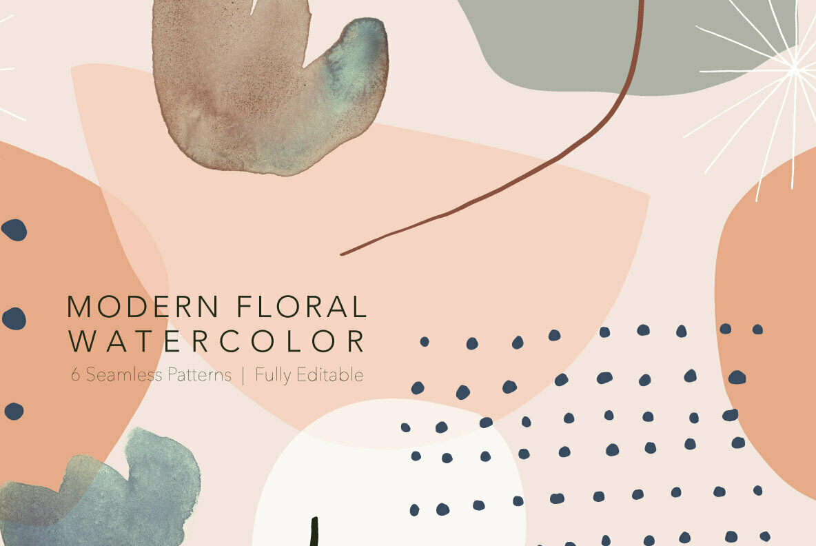 Modern Floral Watercolor