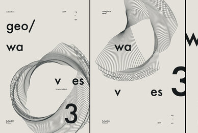 GEO WAVES3 Vector Pack