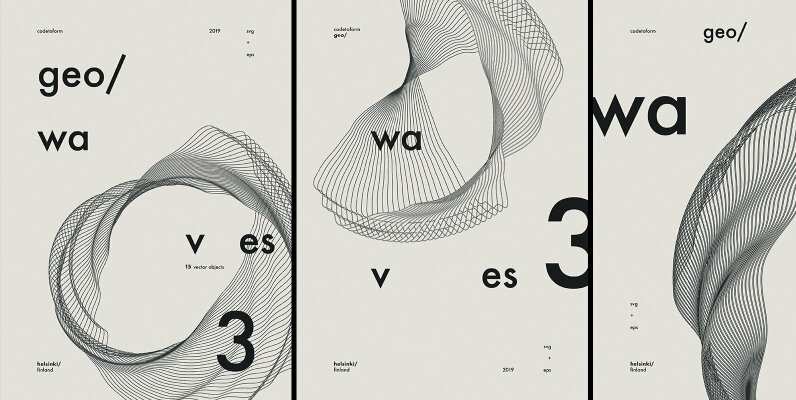 GEO WAVES3 Vector Pack