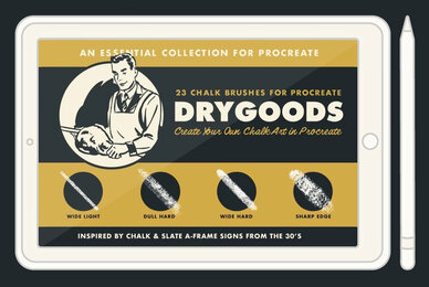 DryGoods   Chalk Brushes for Procreate