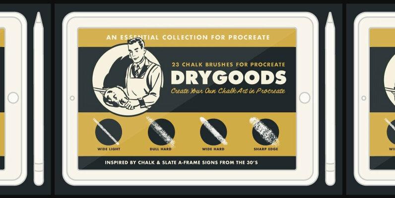 DryGoods   Chalk Brushes for Procreate
