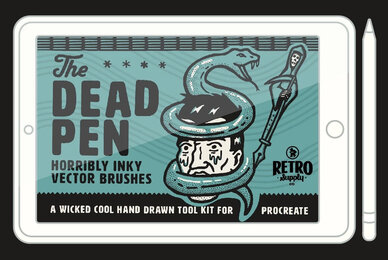 The Dead Pen   A Wicked Cool Hand Drawn Toolkit for Procreate