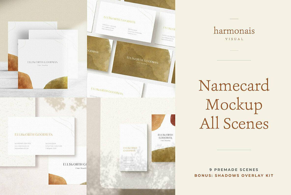 Namecard Mockup All Scenes