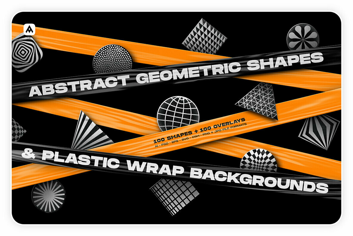 Abstract Shapes   Plastic Wrap Backgrounds