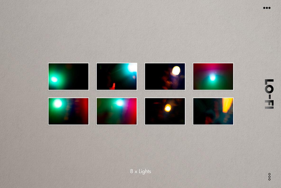 LO FI   Over 90 Real Analog Light Leaks   Overlays