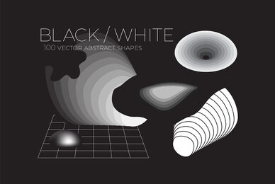 B W 100 Vector Abstract Shapes