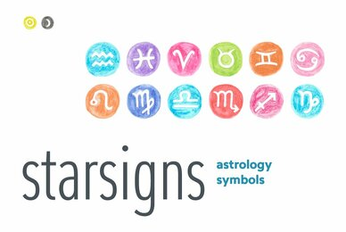 Starsigns Astrology Color Symbols