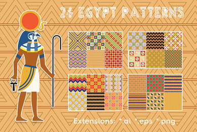 24 Egypt Patterns