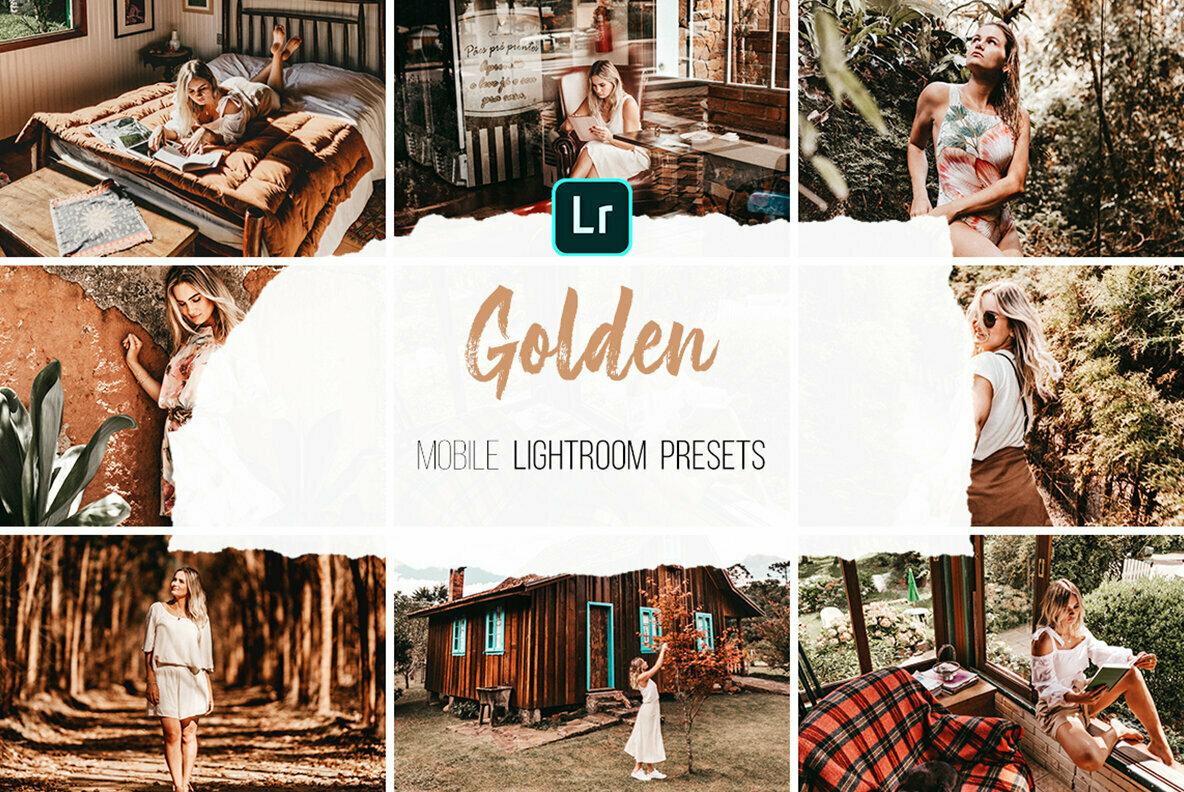 Golden   Mobile Lightroom Presets