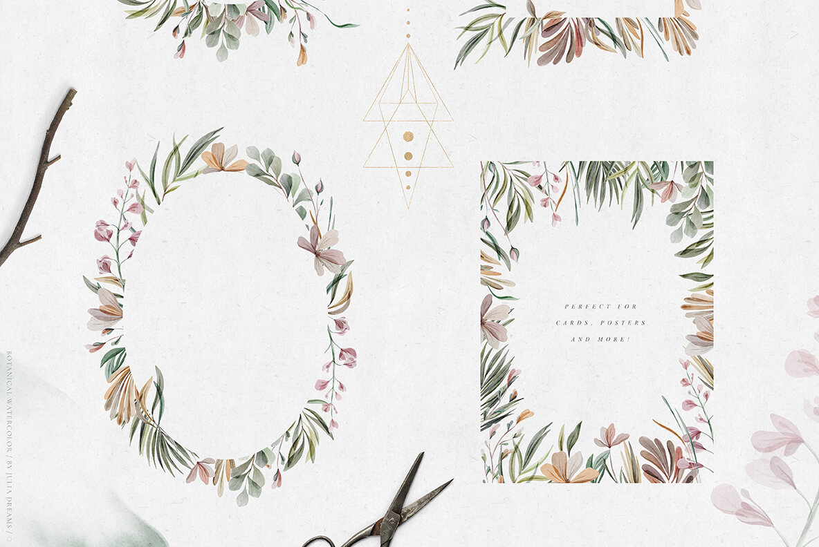 Watercolor Botanical Collection