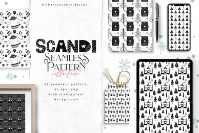 SCANDI Seamless Patterns