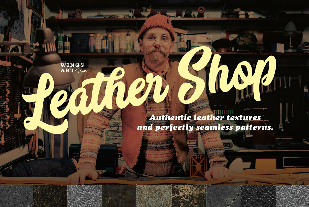 Leather Textures and Seamless Patterns