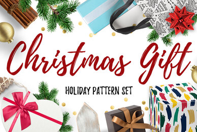 Christmas Gift and Holiday Pattern Set