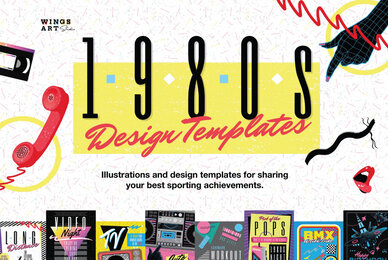 1980s Poster Templates
